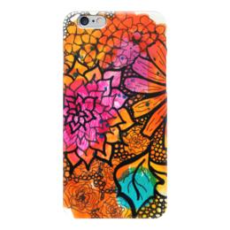 """Чехол для iPhone 6 """"Оранжевое настроение"""" - праздник, новый год, день святого валентина, свадьба, купить подарок"""