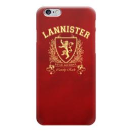 """Чехол для iPhone 6 """"Игра Престолов. Дом Ланнистеров"""" - игра престолов, game of thrones, ланнистеры, house lannister, дом ланнистеров"""