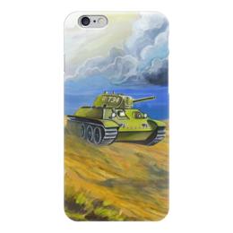 "Чехол для iPhone 6 глянцевый ""Танк Т-34"" - ссср, танк, soviet union, т-34, армия"