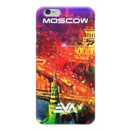 "Чехол для iPhone 6 ""Moscow Love"" - москва, moscow, патриот, искусство"