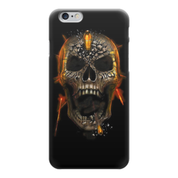 "Чехол для iPhone 6 ""Skull Art"" - skull, череп, война, war, пуля"