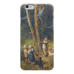 """Чехол для iPhone 6 """"Дети разоряют гнёзда в лесу"""" - картина, васнецов"""