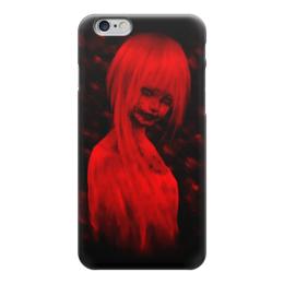 """Чехол для iPhone 6 глянцевый """"Art Horror"""" - девушка, zombie, зомби, смерть, ужасы"""
