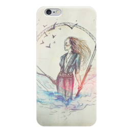 "Чехол для iPhone 6 ""warrior"" - арт, птицы, облака, воин, warrior"
