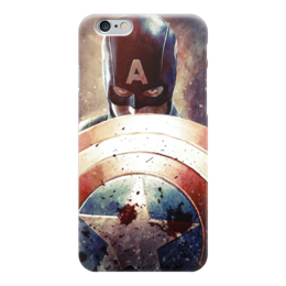 "Чехол для iPhone 6 ""Капитан Америка"" - комиксы, cap, кэп, марвел, captain america"