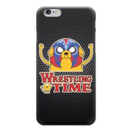 """Чехол для iPhone 6 """"Джейк (Adventure Time)"""" - wrestling time"""