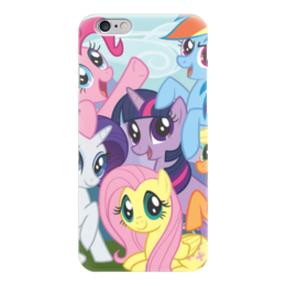 "Чехол для iPhone 6 ""My Little Pony"" - rainbow dash, my little pony, applejack, friendship is magic, twilight sparkle"