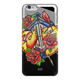 """Чехол для iPhone 6 глянцевый """"lantern """" - цветы, огонь, птица, свет, розы, фонарь, tm kiseleva, fire"""