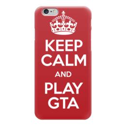 """Чехол для iPhone 6 глянцевый """"GTA (ГТА)"""" - игры, про игры, gta, гта 5"""