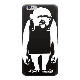 "Чехол для iPhone 6 ""Шимпанзе с рекламным щитом"" - monkey, banksy, бэнкси, шимпанзе"