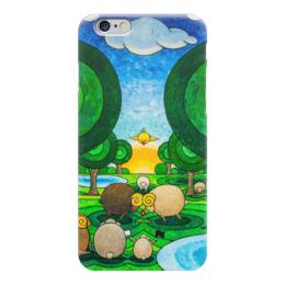"Чехол для iPhone 6 ""Lollypups #14 (flower for Lady) "" - арт, цветок, поп-арт, баран, овечка"