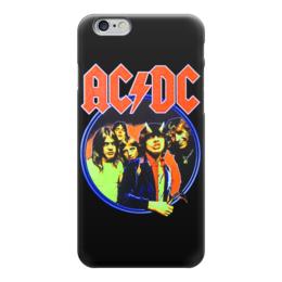 """Чехол для iPhone 6 """"AC/DC """" - heavy metal, hard rock, ac-dc, хэви метал, эйси диси"""
