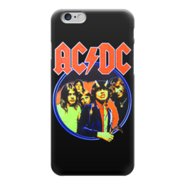 "Чехол для iPhone 6 глянцевый ""AC/DC "" - hard rock, хэви метал, эйси диси, ac-dc, heavy metal"