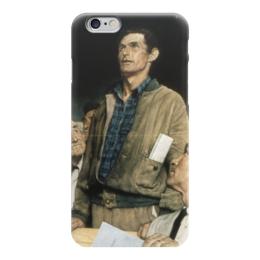 """Чехол для iPhone 6 """"Свобода слова (Freedom of Speech)"""" - картина, роквелл"""