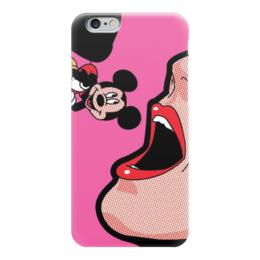 """Чехол для iPhone 6 """"Поп-арт. Микки и женщина кошка"""" - микки маус, поп-арт, mickey mouse, женщина кошка"""