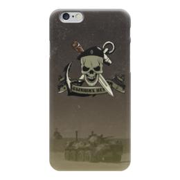 """Чехол для iPhone 6 глянцевый """"МОРСКАЯ ПЕХОТА!!!"""" - якорь, нож, чёрный берет, морская пехота, бтр"""
