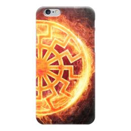 """Чехол для iPhone 6 """"ПЛАМЯ!!!"""" - солнце, огонь, коловрат, славяне, перун"""