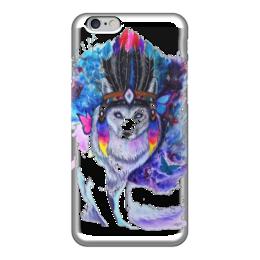 """Чехол для iPhone 6 глянцевый """"Настоящий индеец"""" - животные, природа"""