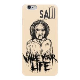 """Чехол для iPhone 6 """"Saw/Пила"""" - кино, пила, saw, смерть, ужасы"""