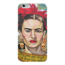 """Чехол для iPhone 6 глянцевый """"Frida Kahlo"""" - любовь, арт, красиво, цветы, черепа, стиль, ярко, портрет, художник, frida"""