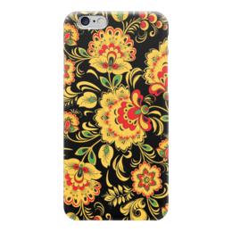 "Чехол для iPhone 6 ""Хохлома"" - цветы, узоры, россия, russia, хохлома"