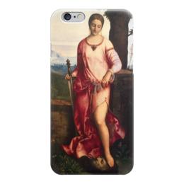 """Чехол для iPhone 6 глянцевый """"Джудит с головой Олоферна (Джорджоне)"""" - картина, джорджоне"""