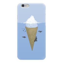 """Чехол для iPhone 6 """"Айсберг """" - океан, ice cream, мороженное, айсберг, киты"""
