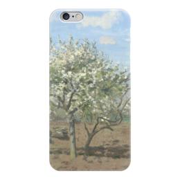 """Чехол для iPhone 6 """"Фруктовый сад в цвету"""" - картина, писсарро"""