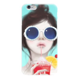 "Чехол для iPhone 6 ""Девушка "" - арт, девушка, лето, мороженое"