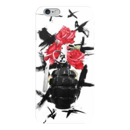 "Чехол для iPhone 6 ""треш полька"" - граната, тату, розы, треш полька"