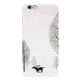 """Чехол для iPhone 6 """"Зима (Магритт)"""" - зима, лошади, природа, магритт, минимал"""