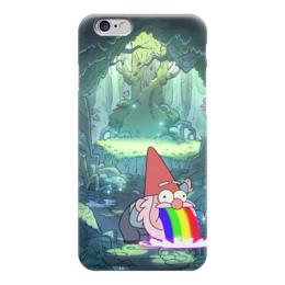 """Чехол для iPhone 6 """"Гравити Фолз"""" - радуга, гном, гравити фолз, блюющий гномик"""
