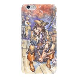 """Чехол для iPhone 6 """"Капитан Джек Воробей."""" - арт, иллюстрация, пират, джек воробей, пираты карибского моря"""