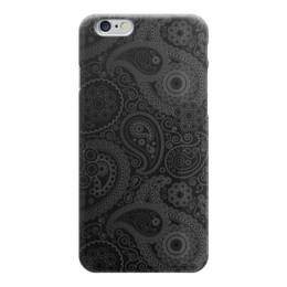 """Чехол для iPhone 6 """"Восточный узор # 1"""" - арт, узор, чёрный, восток, огурчики"""