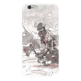"Чехол для iPhone 6 глянцевый ""Викинг. После боя."" - викинг, викинги, vikings, путь воина"