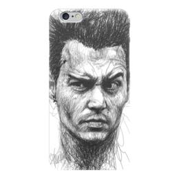 """Чехол для iPhone 6 """"Johnny Depp"""" - арт, кино, актер, иллюстрация, джонни депп"""
