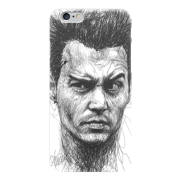 "Чехол для iPhone 6 глянцевый ""Johnny Depp"" - арт, кино, актер, иллюстрация, джонни депп"