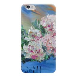 """Чехол для iPhone 6 """"Пионы"""" - счастье, радость, подарок, цветочки, пионы"""