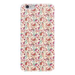 """Чехол для iPhone 6 глянцевый """"Пейсли (Яркий)"""" - пейсли, цветы, цветок, лепесток, лепестки"""