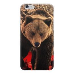 """Чехол для iPhone 6 """"Медведь Россия"""" - bear, медведь, мишка, россия, russia"""