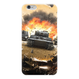 """Чехол для iPhone 6 глянцевый """"Танки (Wot)"""" - world of tanks"""