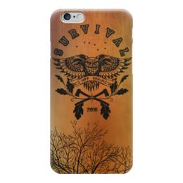 """Чехол для iPhone 6 """"OWL. SURVIVAL"""" - сова, топор, туризм, survival, выживание"""
