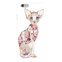 """Чехол для iPhone 6 глянцевый """" Кот Сфинкс"""" - сфинкс, кот, sphynx"""