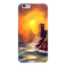 """Чехол для iPhone 6 глянцевый """"Закат морской средь старых башен."""" - арт, закат, крепости, море, sunset"""