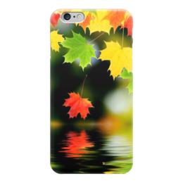 "Чехол для iPhone 6 ""Клён."" - красный, желтый, зеленый, вода, клён"