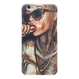 "Чехол для iPhone 6 ""Девушка"" - девушка, эротика, рука, очки"