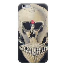 "Чехол для iPhone 6 ""Сальвадор Дали /Ballerina in a Deaths Head"" - череп, любовь, арт, девушка, кости, сальвадор дали, дали, сюрреализм, salvador dali, балерина"
