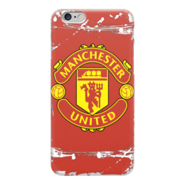 "Чехол для iPhone 6 глянцевый ""Manchester United"" - футбол, manchester united, манчестер юнайтед"