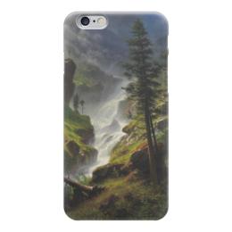 """Чехол для iPhone 6 """"Rocky Mountain Waterfall"""" - картина, водопад, бирштадт"""