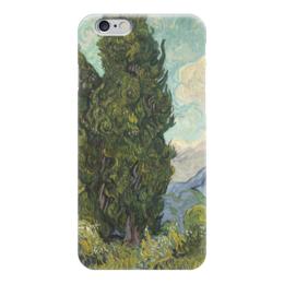 "Чехол для iPhone 6 ""Кипарисы (Cypresses)"" - картина, ван гог"